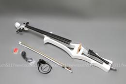Wholesale New WHITE CELLO Solidwood Electric Silent CELLO Case Bow FREE V1
