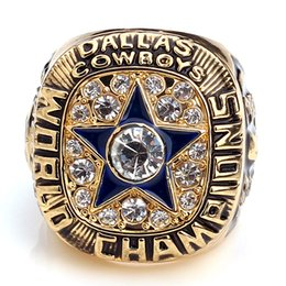 Wholesale Replica Dallas Cowboys Super Bowl Championship Ring For Gift Gold Plated World Series Alloy Rings For Men Collection