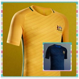 Wholesale New Thailand Australia Cahill KENNEDY KRUSE Blue Bresciano Home Away Yellow Soccer Jersey full Shirt