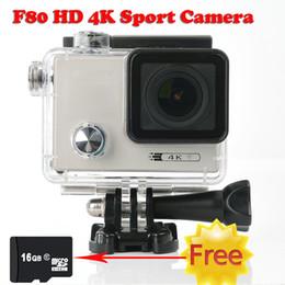 16GB TF card +F80 HD 4K Sport Action camera 2.0 TFT Waterproof sport camera