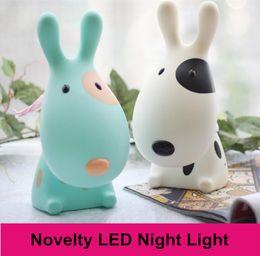 Wholesale On sale Novelty Lovely Cartoon D Dog Kids LED Night Light USB Rechargeable Children Study Table Lamp Desk Reading Light