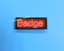 Red Scrolling LED Name Badge Tag Message Sign Red LED USB Rechargeable   Edit By PC Message Advertising