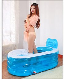 Wholesale Bathtub Water beauty thicken inflatable bathtub adult folding tub bath tub plastic tub for adult and children cm