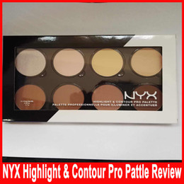Wholesale NYX Highlight Contour Pro Pattle Review Color Pallette Bronzers Kit Set Moisturizing Foundtion Face Makeup Cosmetics