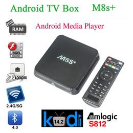 Wholesale M8 M8S M8S Plus Android TV Box Amlogic S812 Quad Core GHZ Wifi G G M Gigabit LAN H Bluetooth HDMI K Smart Media Player5