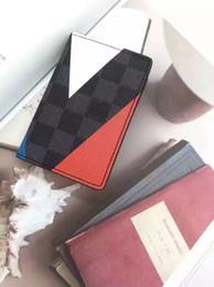 Wholesale Fashion New designe M41591 Genuine leather wallet Josh Gaston wallet Damier Cobalt Regatta wallet renovate wallet