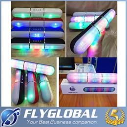 2016 Pill Speaker Led Flash Lighting JHW-V318 Portable Wireless Bluetooth Speaker Bulit-in Mic Handsfree Speakers Support FM USB TF