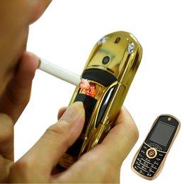 Wholesale Unlocked bar small size Dual sim card Car mobile phone car lighter car key model phone luxury low price metal cellphone