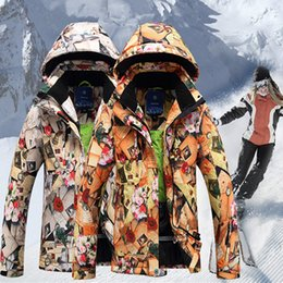 Wholesale HOT SALE Male Women skiing clothing lovers Camouflage outdoor jacket thermal thickening waterproof outdoor ski suit
