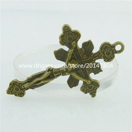 Wholesale 15787 Bronze Faith Religions Crucifix Christian Cross Pendant Charm Alloy