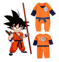 Wholesale Newborn Months Baby Romper Boys Dragon Ball Goku Costume Rompers
