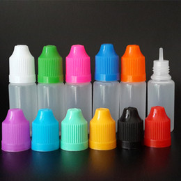 10ml LDPE Plastic dropper bottle With Childproof Cap and Long Thin Tip, Empty Soft style plastic bottles for e cig liquid E juice