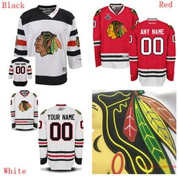 Wholesale Customized Personalized chicago blackhawk Hockey Jersey High Quality Stitched Hockey Jersey white red jersys
