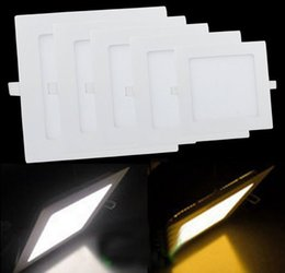 Площадь Светодиодные панели вниз света Lampara 110V 220V для офиса Современный дом Lighitng украшение Яркий 24W 18W 15W 12W 6W 9W 3W 4W Потолок Lampen lampara panel deals от Поставщики lampara панель