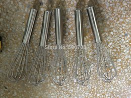 Wholesale Manual Kitchen Stainless steel Egg Beaters Whisk Mixer Cream Baking Blender inch