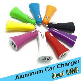 2.1A Mini Car Charger USB 2 Port Cigarette Chargers Micro Dual USB Adapter Flash Dual USB Port for cell Phone & Pad