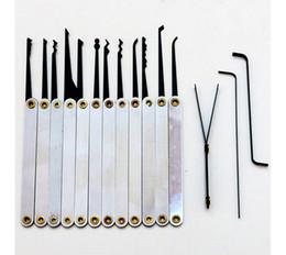 Wholesale 12pcs Lock Picks Tools Stainless Handles w Bag Removing Key Set Lockpick Locksmith Tools Lock Opener Unlock Door hardware BK188