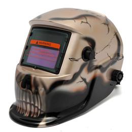 Wholesale Skull Gold Electro Solar welding Mask Auto Darkening Welding TIG MIG Welder Helmet MAC_10T