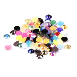 1000pcs 2-5mm Mixed Colors Resin Rhinestones Flatback Glue On Non Hotfix Stones Appliques For Nails Garments Shoes Supplies DIY