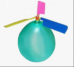 Wholesale Colorful Balloon Helicopter Aircraft Flying Toys Boy Girls Gift Toy DIY HJIA904