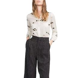 Women cute elephant print blouses vintage long sleeve office shirts blusa feminina basic animal pattern work wear tops LT632