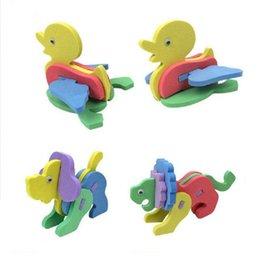 Wholesale Kid Toy Animal Jigsaw - New Creative DIY Baby Toys Handmade EVA Foam Intelligence Development Animal Puzzle Jigsaw Kids Toys for Children