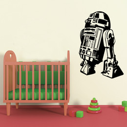 Wholesale STAR WARS Robot Darth Vader Vinyl Wall Stickers Wall Decals Home Decor Wall Art Decal Mural