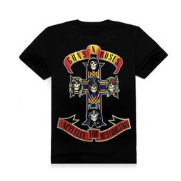 Wholesale Cotton Guns N Roses Led Zeppelin The Beatles T Shirt Men D Black Short Sleeve Hip Hop Tshirt Homme Print Streetwear Tee Shirts Camisetas Ho