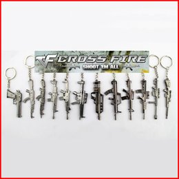 Wholesale In business styles Available CF keychain Cross fire game model key chain collection rifle keychain sniper keychain AK47 gun keychain