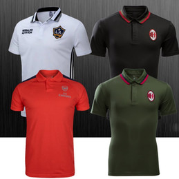 Wholesale 17 team Real Madrid Chelsea Paris polo Football Jerseys Single T Shirt Soccer Short sleeve POLO soccer jersey Football Shirts style