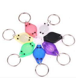 Mini Torch Key Chain UV LED Keychain Money Detector led light protable light Lamp Keychains Car key accessories