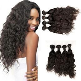 Brazilian Human Hair Weave Bundles 4pcs Virgin Water Wave Weaves Unprocessed Wet And Wavy Hair Extensions 8-30inch G-EASY