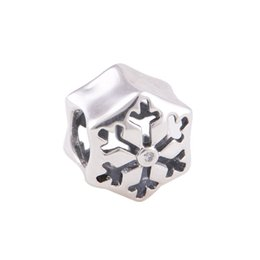 Wholesale Snowflake spacer charms beads authentic original S925 sterling silver fits for pandora style leaves ALELW634X190H6