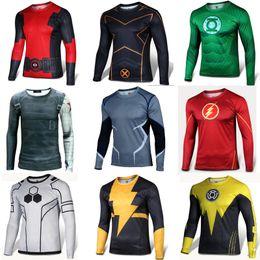 Wholesale Shirt Fabrics Wholesale - 2016 Long Sleeve Sport men poloshirt Quickdry New Brand Sales Camisas Quick Dry Slim Fit Running T-shirt Men's super wax hollandais fabric