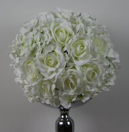 Free shipping rose and Hydrangea 45CM*4pcs lot Pomander rose ball wedding kissing flower ball party home decoration flower