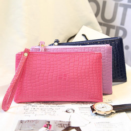 Wholesale Women Lady Wallets PU Leather Wallet Long Wallet Zippered Handbags Gift Color Cellphone Pouch Bags For Women Handbag