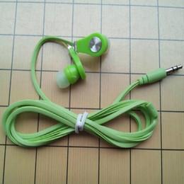 Bajo plano en Línea-Colorido Langsdom JM21 en el oído de auriculares planas Auriculares Super Bass auriculares Cable de cable manos libres Mic Auriculares para el iPhone Samsung