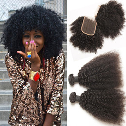 Afro kinky natural hair weave samples afro kinky natural hair brazilian afro kinky curly weave with closure virgin human hair bundles natural color 1b afro kinky pmusecretfo Image collections