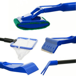 Wholesale Set Of Aquarium Algae Fish Tank Glass Scrubber Cleaner Tools Water Pump Gravel Cleaning Set