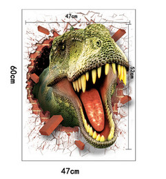 Large Size The new 3 d effect Dinosaur wall stick Bedroom, living room Kindergarten children room decoration stickers Can be removed