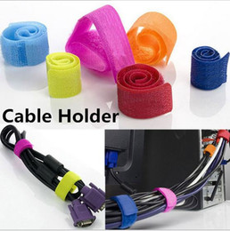 Wire cable Organizer Wire cable Holder clip cable tie hook Loop colorful