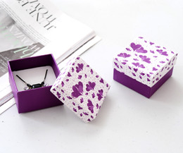 [Simple Seven]Romantic Purple Ring Box  Festival Sweetheart Pedant Box  Fashion Necklace Package  Princess Jewelry Case Love Earring Box