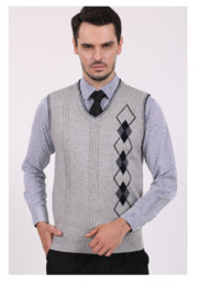 2016 Mens New Spring and Autumn Slim Fit Stylish Button Up Pullover Wool Casual Sweater Vest Fashion Sleeveless Sweater
