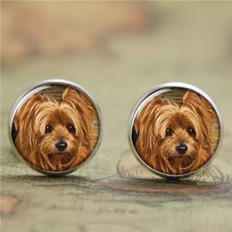 Wholesale 10pairs Yorkie earring Yorkshire terrier Puppy Gift for Yorkie Lover earring print glass photo dog earring
