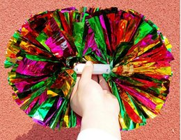 Game pompoms Cheap practical cheerleading cheering pom poms Apply to sports match and vocal concert Color can free combination free ship #14