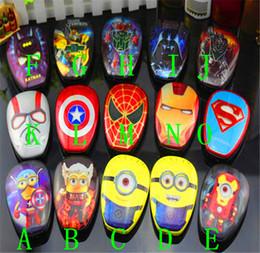 Wholesale High Quality Cartoon external Battery emergency Iron Man mAh USB Power Bank Charger Power Bank Marvel Heroes Captain America