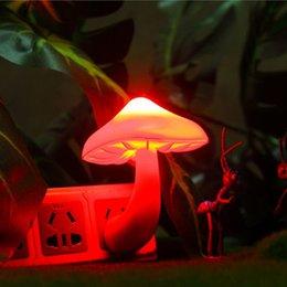 Wholesale Portable Romantic Light Sensor Vivid Mushroom LED Night Lights Lamp for Kids Bedroom Home Decor AU UK EU US Plug AIA00529