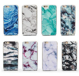Fashion 12Style Ultra-Thin Granite Marble Soft TPU Case Rock Stone Pattern Coloured drawing Back Cover for iphone X 8 7 6 6S plus