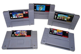 Wholesale Hot selling snes games USA NTSC version both USA version gray shell