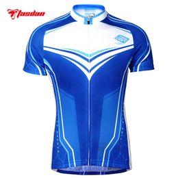 Tasdan Quick Dry Fabric Cycling Jerseys Cheap Sport Jerseys Cycling Wear Clothing with 3 Rear Pockets